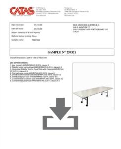 Certificato Tam Tam - ANSI BIFMA