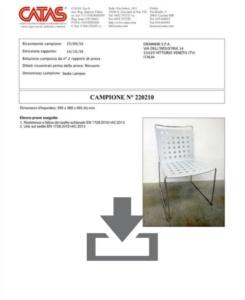 Certificato Multi Buco - CATAS EN 1728