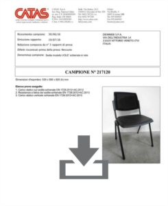 Certificato Wampa Mesh - CATAS EN 1728