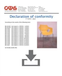 Certificato Manta - CATAS EN 1728