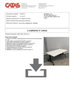 Certificato Ulisses - CATAS EN 1730