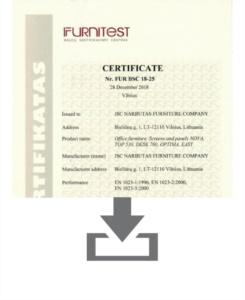 Certificato Silenzio DESK - EN 1023