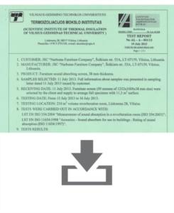 Certificato Silenzio EN ISO 354