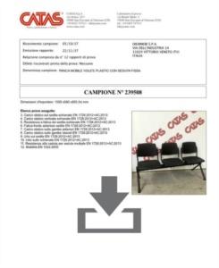 Certificato Panca Wampa - CATAS EN 1728