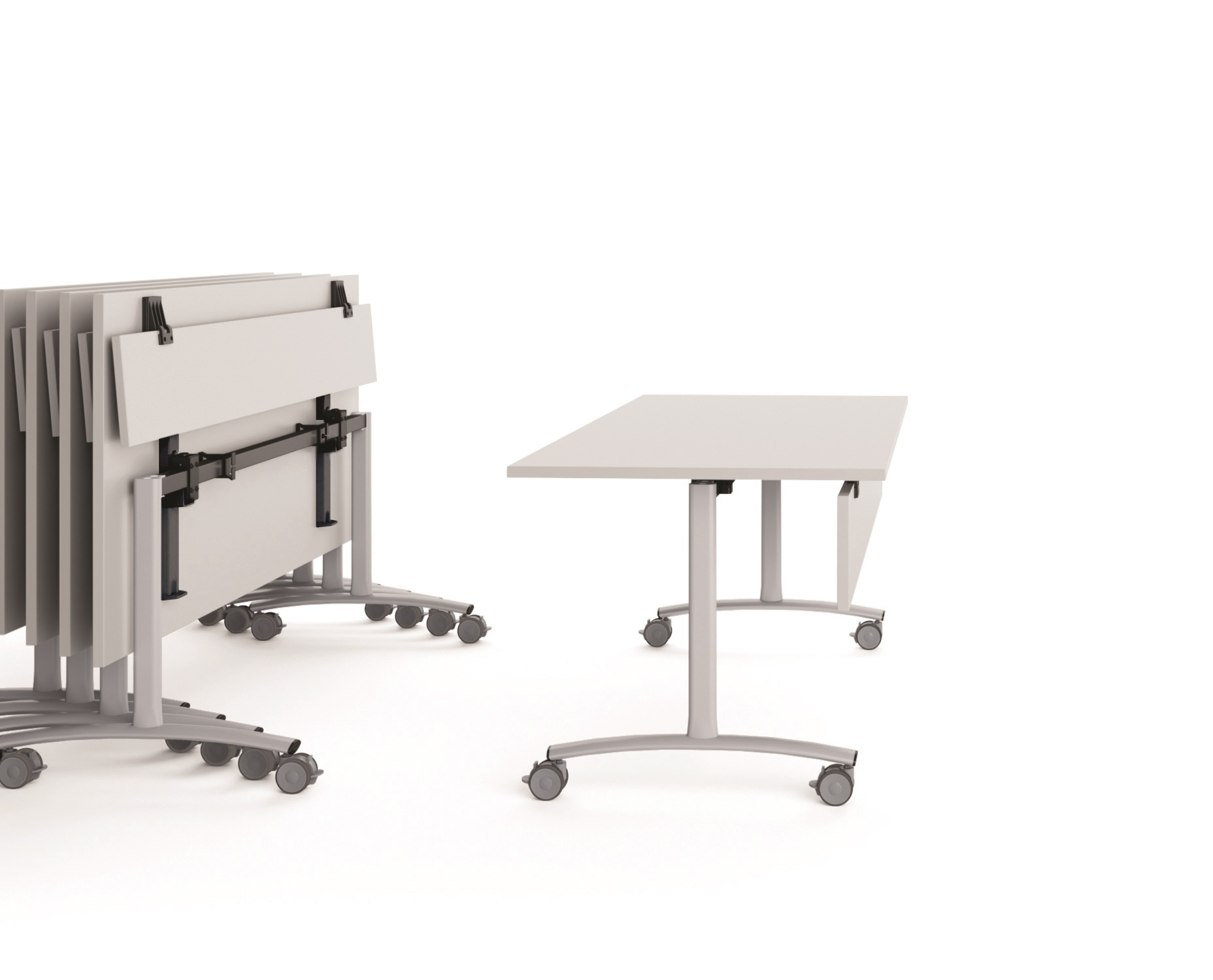 Tavolo ribaltabile per spazi operativi eleganti e funzionali
