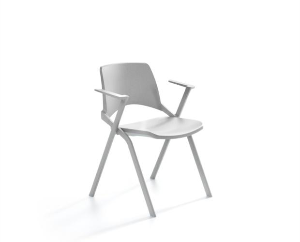 sedia con sedile ribaltabile e con braccioli per sale riunioni oplà