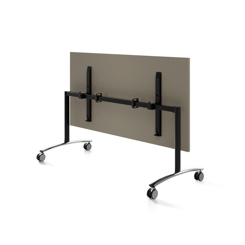 Tavoli Pieghevoli Con Ruote.Tavolo Ribaltabile Per Ufficio Riunione E Smart Working