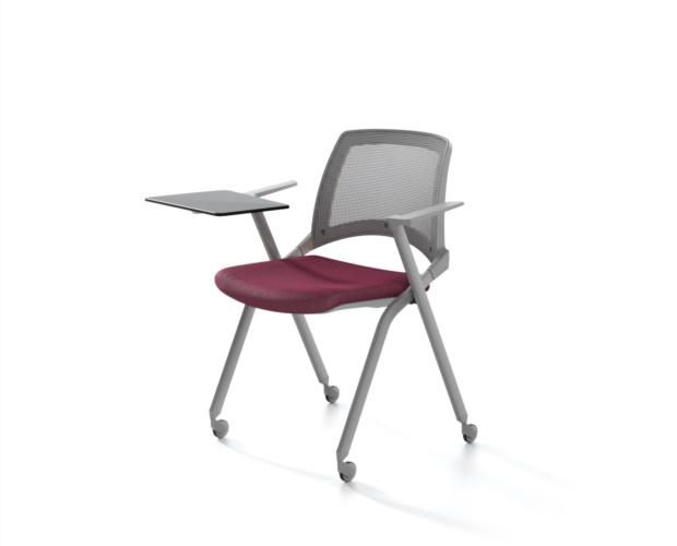 Sedia con schienale in rete e sedile ribaltabile Oplà Mesh