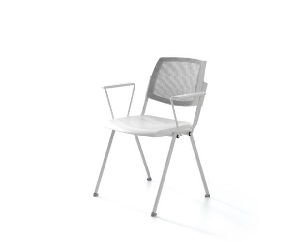 Sedia con schienale in rete Wampa Mesh